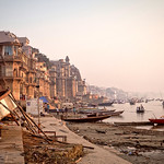 Dawn on the river Ganges. Varanasi, India thumbnail