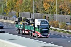 Eddie Stobart 'Michelle Belle' (stavioni) Tags: esl eddie stobart truck trailer lorry scania r450 michelle belle po66ugs h2515 mol mechanical off load