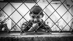 Looking In (#Weybridge Photographer) Tags: 5d mkii eos slr dslr nepal asia kathmandu mk ii child boy monochrome canon smile