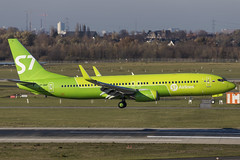 VP-BQF Boeing 737-800 S7 Airlines DUS 2018-11-17 (6a) (Marvin Mutz) Tags: vpbqf s7 airlines boeing 737800 dus eddl düsseldorf international nordrheinwestfalen germany aviation planespotting avgeek aircraft airplane aeroplane plane pilot cockpit crew passenger travel transport jet jetliner airline airliner wings engines airport runway taxiway apron clouds sky flight flying landing arrival touchdown