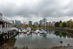 On a Calm Day (Jocey K) Tags: sonydscrx100m6 triptocanada vancouver building wet trees autumn canada city architecture clouds sky boats reflections water sea