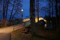 2018 Bike 180: Day 255, November 20 (olmofin) Tags: 2018bike180 finland bicycle helisnki sea meri silta bridge lumix 20mm f17 kaskisaari lauttasaari pyörätie path night dark yö