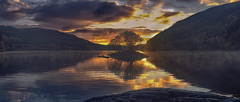 Sunrise (seantindale) Tags: sunrise wales uk olympus omdem5markii lake waterscape landscape clouds sky ngc