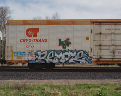 REMOTE (◀︎Electric Funeral▶︎) Tags: omaha midwest councilbluffs nebraska lincoln fremont desmoines kansascity kansas missouri iowa graff graffiti paint aerosol art freight train traincar freighttraingraffiti railway railroad railcar benching benched freighttrain rollingstock fr8train fr8heaven canon 5d digital photography cryotrans reefer remote zee