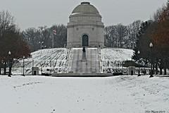 WILLIAM McKINLEY MONUMENT IN CANTON, OHIO (fstopfinatic) Tags: panasonicfz1000 outdoor landscape serene starkcountyohio cantonohio period yesteryear old president monument building