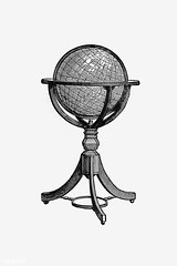 Vintage globe stand illustration (Free Public Domain Illustrations by rawpixel) Tags: british antique art atlas black blackandwhite cc0 creativecommons0 decoration design designresource drawing earth education engraving etching europe european exploration geographical geography global globe handdrawn historical history icon illustration ink journey learn library map name navigation nostalgic oldfashioned ornament pen psd publicdomain retro sketch sphere stand study style symbol tattoo travel vintage world