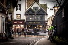 The Plough (Reckless Times) Tags: oxford pub public house plough theplough publichouse city longexposure people blur nikon d750 100x project frontage old modern