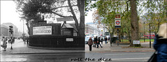 Euston Square`1947-2018 (roll the dice) Tags: london camden nw1 travel transport trains old local history retro bygone vanished demolished sad mad corner surreal streetfurniture lights traffic architecture trees changes collection canon tourism tourists fashion arch oldandnew pastandpresent hereandnow uk classic art urban england people cuthbert roundel tube underground bus taxi railway nostalgia comparison forties cars