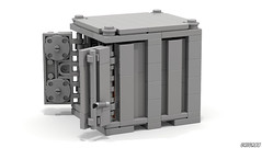 10' Container (LDD Building Instructions) by  Criga88 (Repubrick.com) Tags: repubrickcom buildinginstructions lego ldd lddfile iso shipping container city