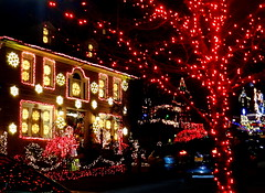 Christmas Decorations (dimaruss34) Tags: newyork brooklyn dmitriyfomenko image christmasdecorations christmas building lights
