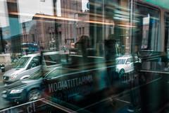 was on my way (o altan) Tags: helsinki finland transportation oaltan reflections glass
