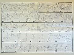 LS – Vintage Plastic Model – 1/1 Scale – German – Mauser Military M96 with Broomhandle – Instruction Manual Overleaf (My Toy Museum) Tags: ls vintage plastic kit gun pistol german mauser m96 holster stock broomhandle broom handle