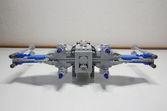 (Improved) Standard Resistance X-wing: Back View (Evrant) Tags: lego star wars custom x wing moc starfighter spaceship starship ship t70 t 70 resistance evrant