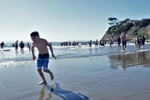 Running For His Towel !