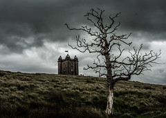 Peak District (shaunnicholls94) Tags: moody dark outside clouds blackandwhite monochrome building atmosphere