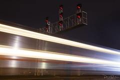 The Counter Commute (Patrick Dirden) Tags: blur motionblur twilight nightphotography rail railroad train passengertrain caltrain jpbx collegeparkstation sanjose sanjoseca santaclaracounty southbay bayarea northerncalifornia california