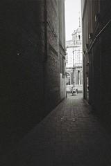 Sitting in the light (bigalid) Tags: film 35mm belomo vilia october 2018 expired kodak bw400cn c41 bw carlisle alley