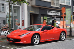 Ferrari 458 Italia (D's Carspotting) Tags: ferrari 458 italia belgium knokke red 20180527 1jhc079