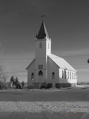 The Church On A Snowy Plain (Sybaristail of Sybaristail Photo & Art) Tags: alberta canada canadian chapel church cold frozen ice icy nikon peace prairie snow winter winterday wintersky empty quite architecture blackandwhite clearsky monochromatic monochrome silence wintermorning albertacanada architecturephotography nikonphotography monochromephotography canadianphotographer nikonphotographer