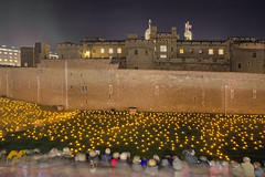 Oltre l'ombra più profonda / Beyond the Deepening Shadow (Tower of London, London, United Kingdom) (AndreaPucci) Tags: toweroflondon london uk night candles beyondthedeepeningshadow andreapucci firstworldwar remembrance day
