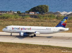 Small Planet Poland A320-200 SP-HAD (birrlad) Tags: rhodes rho international airport greece aircraft aviation airplane airplanes airline airliner airlines airways taxi taxiway takeoff departing departure runway smallplanet small planet poland cease ops return lessor airbus a320 a320200 a320232 sphad skypol