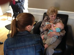 "Grandma Shirley Feeds Paul • <a style=""font-size:0.8em;"" href=""http://www.flickr.com/photos/109120354@N07/31150318137/"" target=""_blank"">View on Flickr</a>"