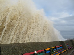 Stormy Weather New Brighton (bikerchick2009) Tags: newbrighton waves sea seaside seafront storm water waterfront wirral coast merseyside merseyriver sky liverpool