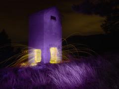 arsonist dream (Ichi De) Tags: lightpainting steelwool sparks omd night dark fire purple dream arsonist art