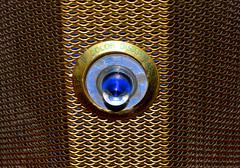 Evergard Fire Alarm (donjuanmon) Tags: donjuanmon nikon macro macromondays hmm safety theme firealarm siren freon metal glass midcentury 1950s gold blue silver modern