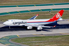 "LX-WCV, ""City of Pétange,"" Cargolux, Boeing 747-4R7F, KLAX, December 2018 (a2md88) Tags:"