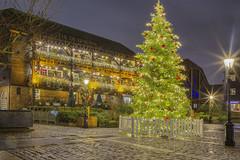 A very Dickensian Christmas (St Katharine Docks, London, United Kingdom)(Buon Natale!!!/Merry Christamas!!!) (AndreaPucci) Tags: stkatharinedocks pub london uk charlesdickens night christmas tree andreapucci