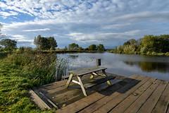 Amstel (Julysha) Tags: d800e nikkor142428 acr autumn october 2012 river table sky clouds amstel thenetherlands holland