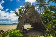 Happy Hawaiian Holidays (RobertCross1 (off and on)) Tags: a7rii alpha emount hi hawaii ilce7rm2 oahu sony fullframe island mirrorless kaneohe windward hut house palmtrees bluesky clouds water lagoon pacificocean seascape landscape fe1635mmf4zaoss heeiapond heeia fishpond
