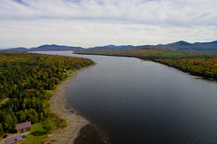Aerial Pond (Northern Wolf Photography) Tags: autumn clouds drone fall lake maine mountains pond water greenville unitedstates us