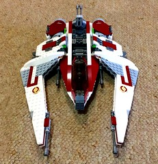 Republic Scout Fighter (TheHighGround2187) Tags: star wars lego starwars starwarslego legostarwars minifigures jedi last awakens force han rey poe finn luke leia skywalker solo organa movies kenobi obiwan yoda blasters red helmets galaxy space rebels rebellion ghost crew team family mandalorian