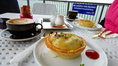 Lunch on the Birkenhead Wharf (Sandy Austin) Tags: panasoniclumixdmcfz70 sandyaustin northisland northshore birkenhead wharf food auckland newzealand waitemataharbour harbour pie