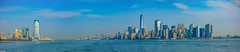 ... New York ... (wolli s) Tags: hudsonriver manhatten ny nyc newyork newyorkcity skyline worldtradecenter brooklynbridge panorama ship stitched vereinigtestaaten us nikon d7100 aida kreuzfahrt waterfront