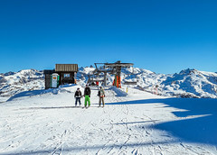 People at ski resort