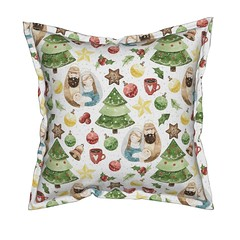 Holidays Around the World - Holy Night in Germany  on white Pattern Pillow (Uta Naumann) Tags: illustration design happy drawing cartoon character friendly christmas xmas fun forest branch berry utarthome textiledesign pattern patternobserver patterns home shoponline shop trend surfacepattern surfacedesign interiordesigners designers sewcialists spoonflower animals woodland holidays winter deer nature landscape holynight holycouple maryandjoseph