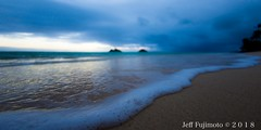 Lanikai Sunrise (j . f o o j) Tags: lanikaisunrise nikond610 nikkor20mmf28 nikkor50mmf12ais nikon nikkor16mmf28fisheye hawaii kailua namokulua twinislands