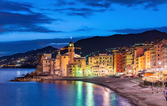 _DSC1219 - Camogli after sunset (AlexDROP) Tags: 2018 europe genoa liguria italy twilight art travel color landscape city sea church nikond750 afsnikkor28300mmf3556gedvr best iconic famous mustsee picturesque postcard bluehour skyline