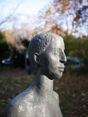 Der Blick. / 16.11.2018 (ben.kaden) Tags: berlin pankow elisabethweg carinkreuzberg dreifrauen kunstderddr kunstimöffentlichenraum kunstimstadtraum bildhauerei bildhauereiderddr skulptur 1979 2018 16112018