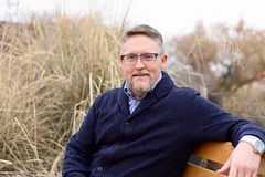 Enjoying the Albuquerque Bosque (robert.babnick) Tags: autumn natural gray beard father husband middleage blue outdoor winter cold fall naturallighting male portrait