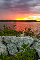 Spot Pond In Red (Northern Wolf Photography) Tags: lake middlesexfells pond samsung spotpond sunset water stoneham massachusetts unitedstates us