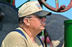 Engineer Portrait at the Steam Festival (forestforthetress) Tags: man portrait face engineer steamengine illinoisamishheritagecenter centralillinois agriculture harvest omot nikon color outdoor unlimitedphotos