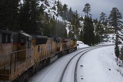 Cisco, California (imartin92) Tags: cisco grove california unionpacific railroad railway freight train emd sd70m ge generalelectric et44ac es44ac gevo locomotive donnerpass