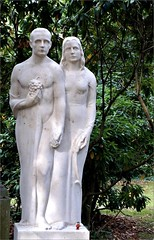 Eternity (farmspeedracer) Tags: memory memories mourning cemetary friedhof man woman statue stone sculpture couple germany artist 2016 september autumn dead death visit family
