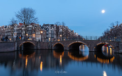 Almost dark in Amsterdam (Martijn van Sabben) Tags: amsterdam city iamsterdam nikon nikonnl iloveholland holland dutch ngc old blue coolshot flickr instagram light longexpossure awesome architecture water bridge nice cool cold