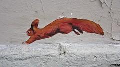 Nadège Dauvergne_1551 passage Saint Bernard Paris 11 (meuh1246) Tags: streetart paris animaux nadègedauvergne passagesaintbernard paris11 écureuil
