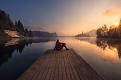 Preciosa Slovenia (Juliocastrofoto) Tags: slovenia sunrise lake